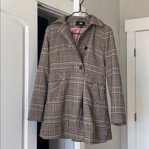 H&M Patterned Trench Coat